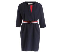 Kleid mit Taillengürtel - nachtblau