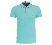 Piqué-Poloshirt mit Leinenanteil