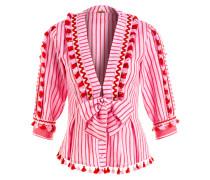 Bluse SKYLER - rot/ pink gestreift