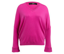 Pullover - pink/ weiss