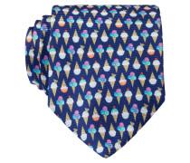 Krawatte - navy/ weiss/ gelb