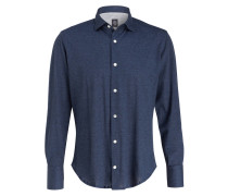 Hemd Regular-Fit - navy meliert