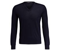 Cashmere-Pullover mit Seidenanteil