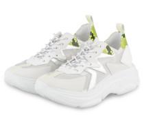 Plateau-Sneaker - WEISS/ NEONGELB/ SILBER
