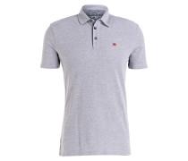 Piqué-Poloshirt EBITO - grau meliert