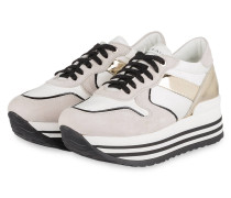 Plateau-Sneaker BLUES 5 - CREME/ GOLD