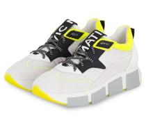 Plateau-Sneaker - WEISS/ NEONGRÜN