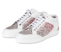 Sneaker MIAMI - WEISS/ SILBER/ ROSA