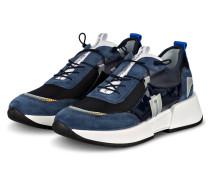 Plateau-Sneaker - DUNKELBLAU/ WEISS