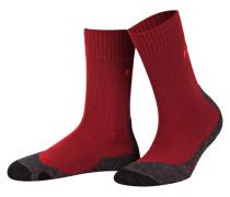 Trekking-Socken TK2 - rot/ grau