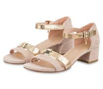Sandalen - braun/ gold metallic