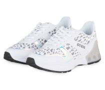 32632c55a9e5c0 Plateau-Sneaker TEKNICAL - WEISS  GRAU. Guess