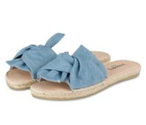Sandalen im Espadrilles-Stil - HELLBLAU