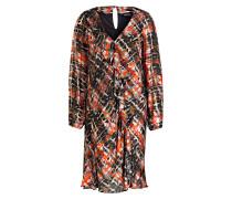 Kleid MUCK OUT LONG mit Volants und Seidenanteil