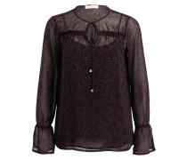 Bluse - schwarz/ rot