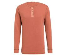 Henley-Shirt - orange
