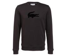 Sweatshirt mit monochromer Labelapplikation