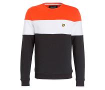 Sweatshirt - schwarz/ weiss/ orange