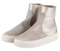 Hightop-Sneaker - TAUPE/ SILBER