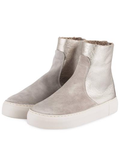 Hightop-Sneaker - TAUPE/ SILBER