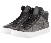 Hightop-Sneaker ARGYLE - GRAU/ SCHWARZ