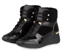 Plateau-Hightop-Sneaker LIV - SCHWARZ