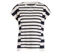 T-Shirt - creme/ marine gestreift