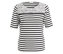 Strickshirt - schwarz/ weiss gestreift
