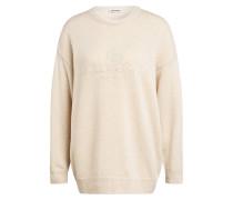 Cashmere-Pullover mit Stickereien