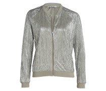 Plisseeblouson - silber/ khaki
