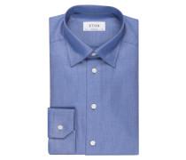 Twillhemd Contemporary-Fit - blau