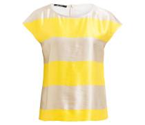 Blusenshirt - gelb/ beige