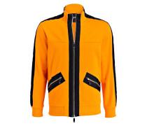 Sweatjacke - orange/ schwarz