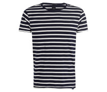 T-Shirt - navy/ offwhite