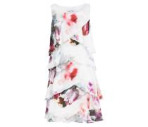Kleid - weiss/ pink/ grau
