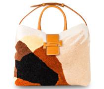 Lammfell-Handtasche DOUBLE T