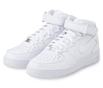 Hightop-Sneaker AIR FORCE 1 MID - WEISS