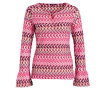 Pullover - hellrosa/ pink/ schwarz