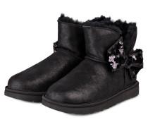 Boots MINI SEQUIN BOW - SCHWARZ