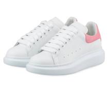 Plateau-Sneaker - WEISS/ PINK