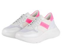Plateau-Sneaker LIZZY 9 - WEISS/ PINK