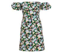 Off-Shoulder-Kleid mit Leinenanteil