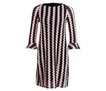 Kleid POETA - schwarz/ rosa
