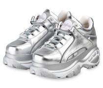 Plateau-Sneaker CLASSIC KICKS - SILBER