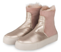 Hightop-Sneaker - ROSÉ/ SILBER/ HELLGRAU