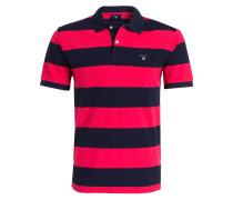 Piqué-Poloshirt - marine/ magenta