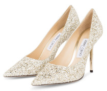 Pumps LOVE 100 - GOLD/ WEISS