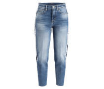 Girlfriend-Jeans - blau used