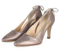Cut-out-Pumps - TAUPE METALLIC