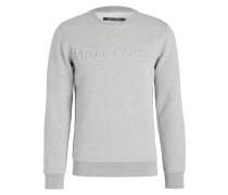 Sweatshirt mit monochromer Label-Prägung